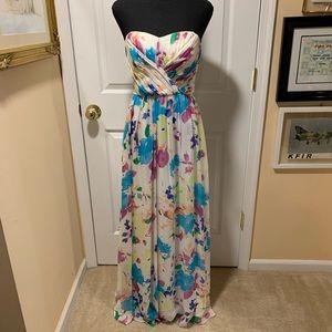 Yumi Kim floral strapless dress size medium